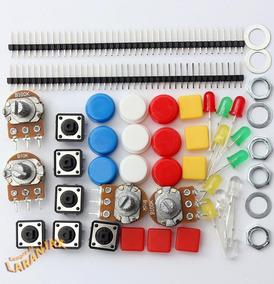 Kit Arduino Componentes Eletrônicos Atmega Uno Pic Robótica