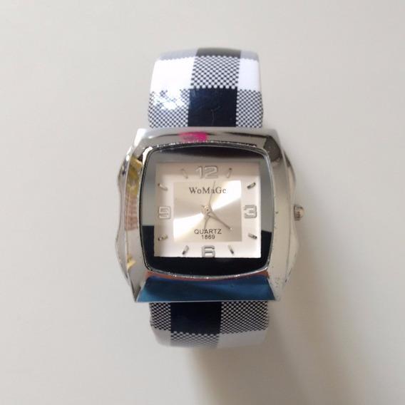 Relógio Bracelete De Pulso Analógico Feminino Womage Quartz