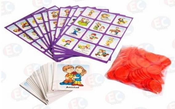 Edu-090 Loteria De Valores Universales Juego Cartón Educar