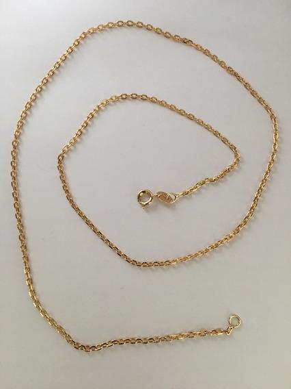 Corrente Malha Cartier 60cm Folheada A Ouro 2423