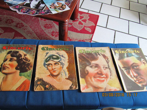 Lote Com 4 Revistas Cinearte Cena Muda Originais 1920-1930