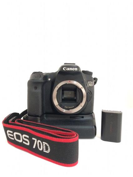 Canon 70d + Grip + 2 Baterias