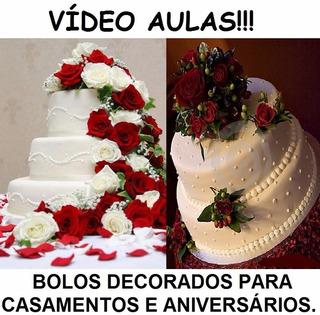 Curso Decoração Bolos Decorados Aniversários E Casamentos X6