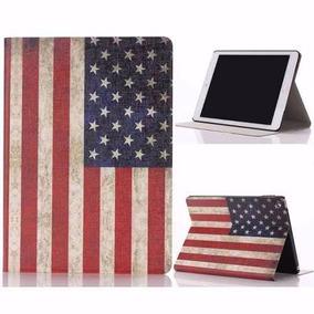 Capa Case iPad Mini Retina Bandeira Eua Couro