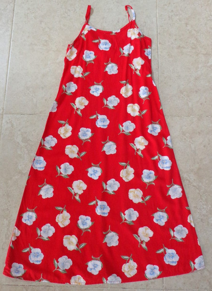 Vestido Niña Color Rojo Con Flores Talla 10 Chica