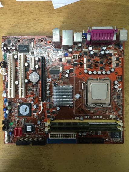 Kit Placa Itautec St 1350 Ddr2 De 2gb + Core 2 Duo