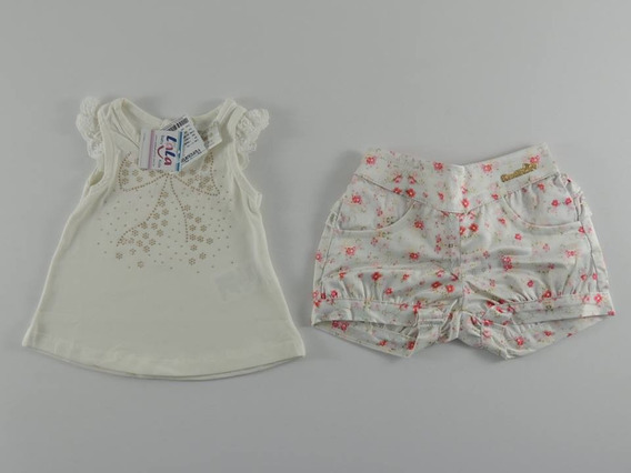 Conjunto Bebê Menina Planeta Pano 3/6 Meses