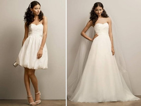 Vestido De Noiva Branco 2 Em 1 - 42 - Pronta Entrega Vn00138