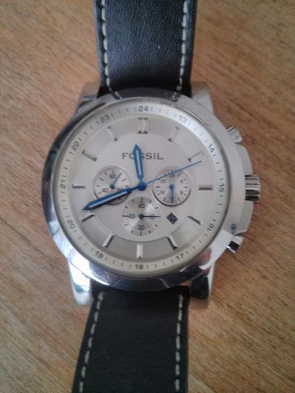 Relógio Fóssil Analogico Ref: Fs4248 - Pulseira Na Cor Preta