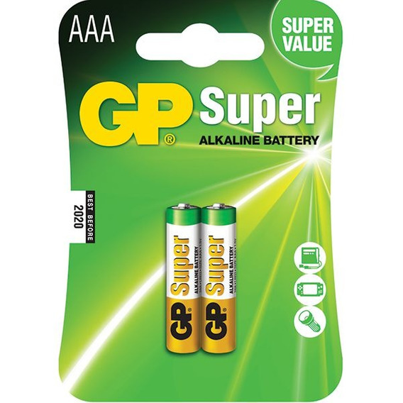 Pilha Super Alcalina Aaa Gp 1.5v 24a-c2