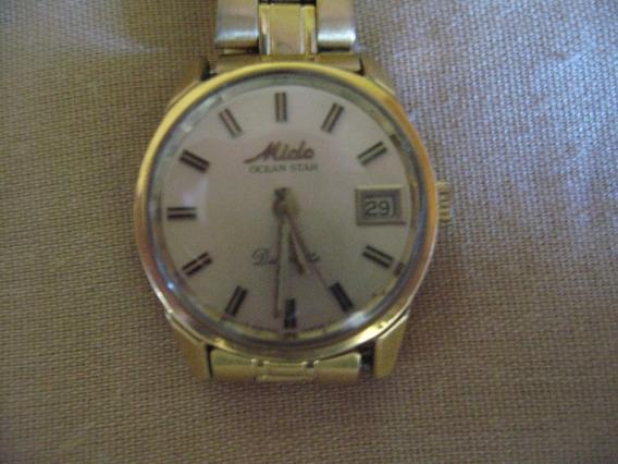 Reloj Mido Ocean Star Chapa De Oro Datorette De Mujer