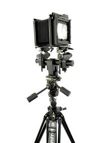 Câmera Fotográfica Grande Formato Sinar F2, 2 Lentes, Tripé