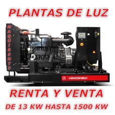 Renta Y Venta De Plantas De Luz A Diésel Y Servicio