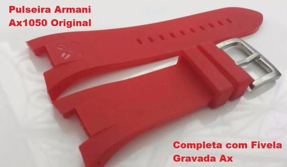 Pulseira Armani Ax1068 Original Ax1050 Ax1069 Vermelha