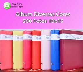 5 Álbuns De Diversas Cores - 200 Fotos 10x15
