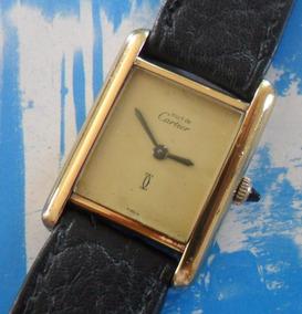 Relogio Must Cartier G E N U I N O Prata Folheada Ouro 18k!