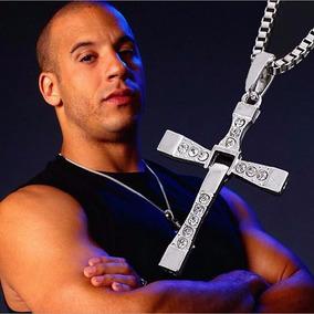 Colar Cordão Masculino Com Pingente Cruz Vin Diesel