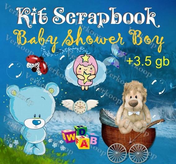 Kit Scrapbook Digital Baby Shower Boy Niño Elementos Png