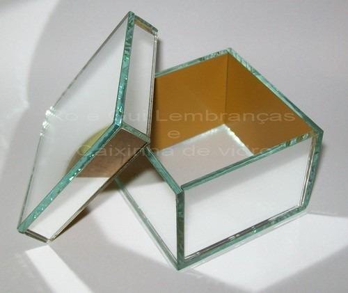 Caixa Espelhada 10cm X 10xm X 5cm(h)