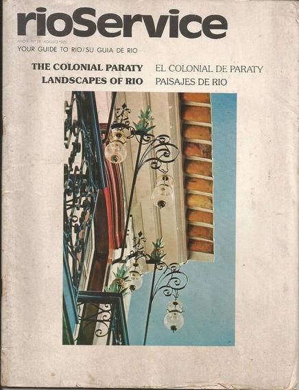 Revista Rioservice 1985 - Bilíngue - Agências De Turismo