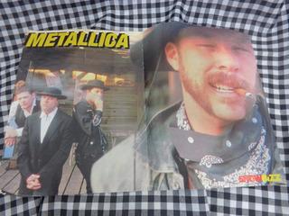 Poster Metallica Fase Load 1996 Revista Showbizz Bizz 2 Pág