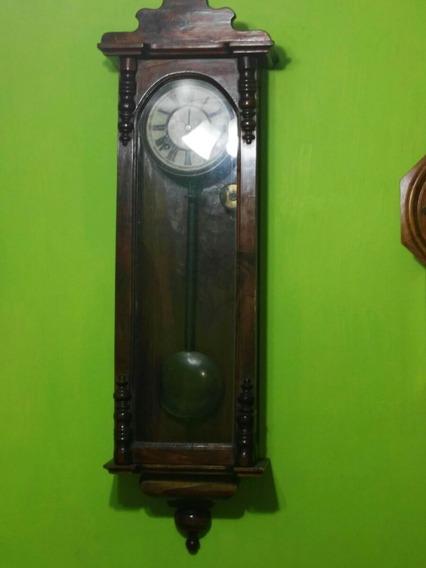 Reloj De Péndulo De Pared Antigüedad Principios Del Siglo Xx