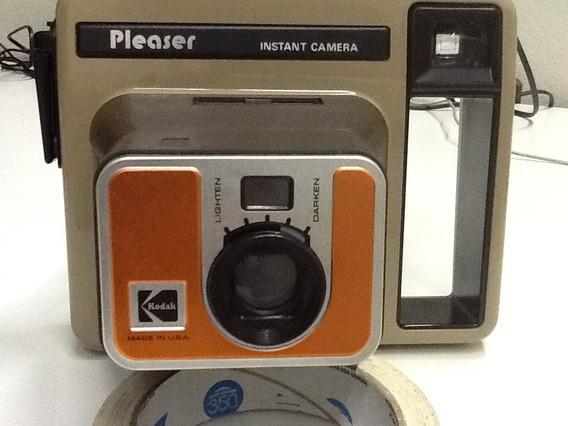 Rara Camera Instantânea Kodak Pleaser Na Caixa Original