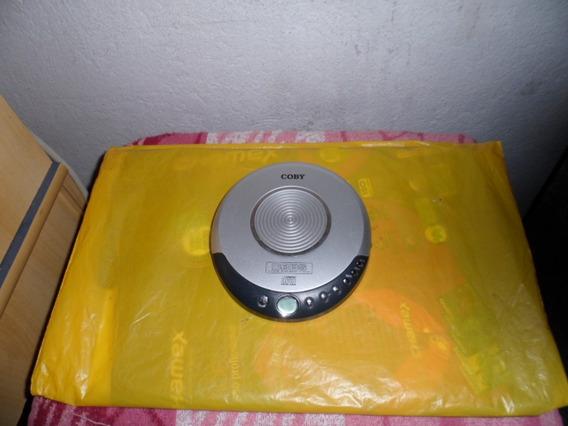 Antigo Disk Man Coby Com Fone De Ovido Fusiona Bem
