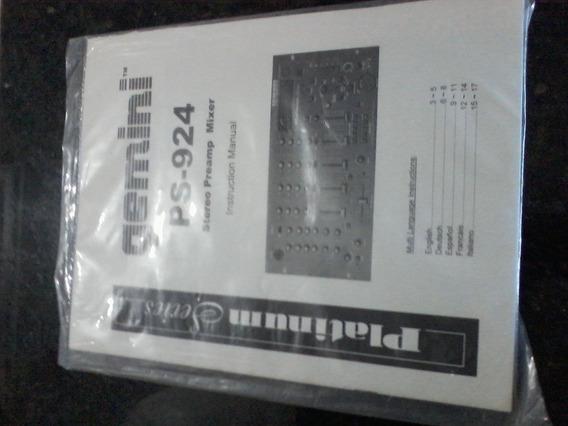 Manual Mixer Gemini Ps 924 Lacrado