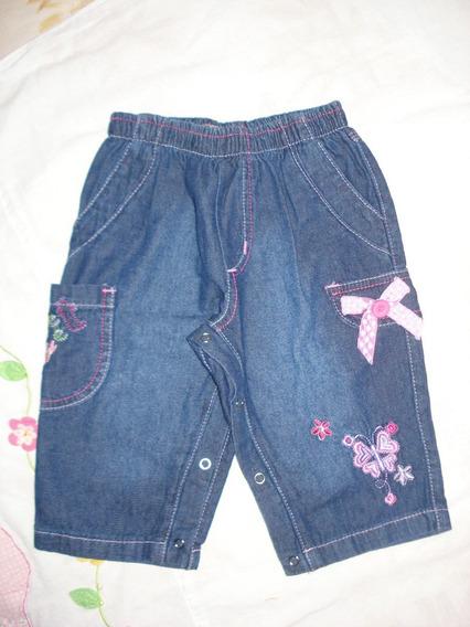 Calça Jeans Infantil Com Lacinho