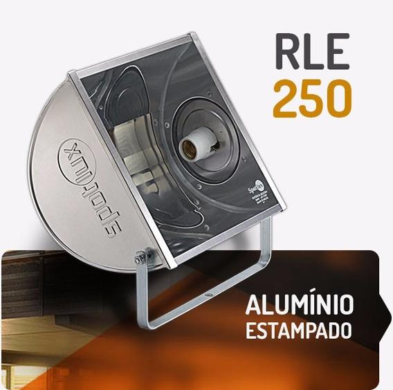 Refletor Alumínio Rle250w E27 Spotlux Retangular Sem Lampada