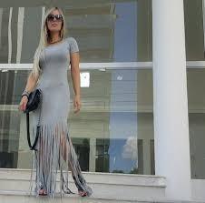 Vestido Franjinha Panicat Verão Saida Passeio Praia 2700