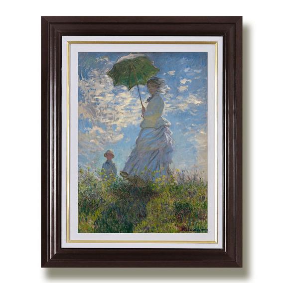 Quadro Monet 65x45cm Mulher Guarda Sol Arte Decoracao Sala