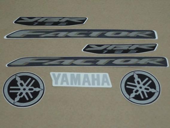 Kit Adesivos Yamaha Ybr Factor 125 2010 Preta - Lb10261