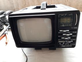 Mini Tv Deluxe Portátil 5`` + Rádio Com Cabo (fonte) Cod 698