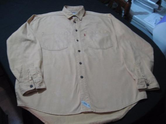 Camisa De Mesclilla Levi Strauss Talla L Color Ocre