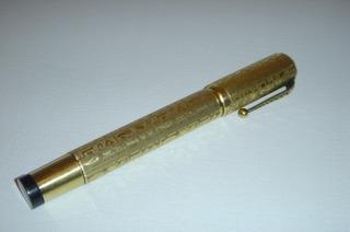Pluma Fuente Vintage Mondiale En Oro 18k, Excelente Estado.