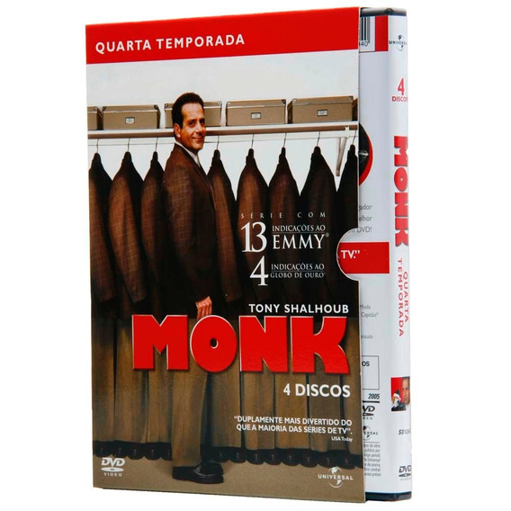 Box Dvd Monk - 4ª Temporada - 4 Dvds - Lacrado - Original