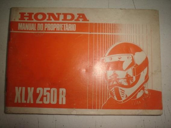 Manual Moto Honda Xlx 250r 1993 1994 Original Cross 250