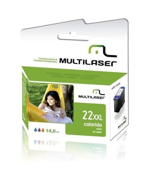 Cartucho De Tinta Hp 22 Color Compativel Multilaser Co022...