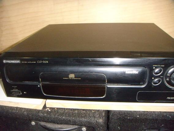 Laser Disc Pioneer Cd- Cdvs -ld 104 Func Com Controle Remoto