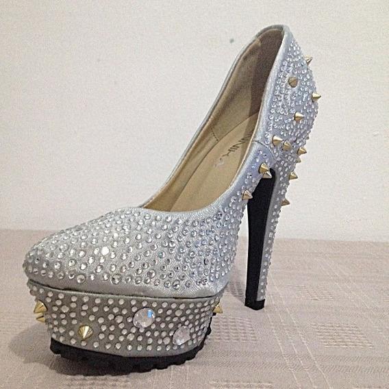 Sapato Feminino Salto Alto Importado Luxo Brilho - 029