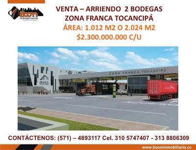 *venta Arr. Bodegas Zona Franca Tocancipa