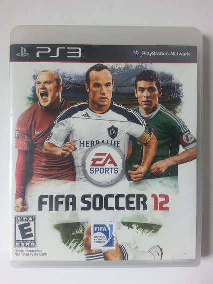 Jogo Fifa Soccer 12 - Ps3. Midia Fisica