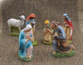 Pesebre Antiguo Figuras Grandes Lote