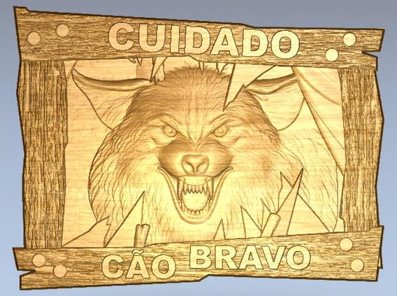 Vetores Artesanato Mdf Cnc Router Placa Cão Bravo Artcam
