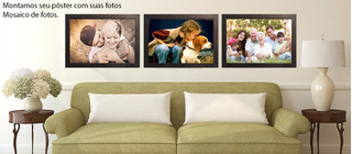 Poster Fotografico Personalizado Com Suas Fotos Em Mosaico
