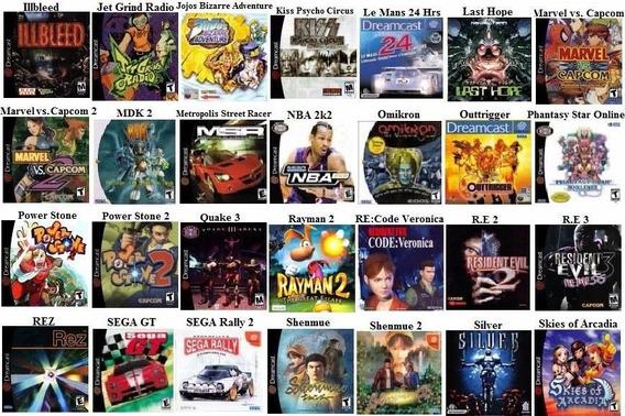 Patchs Dreamcast Todos Títulos Pacote 6 Unidades Jogos