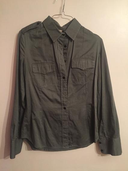 Camisa Verde Militar Ona Saenz - Talle M (mujer)