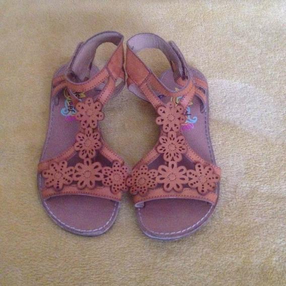 Sandália Menina Couro Rachel Shoes Tam 12